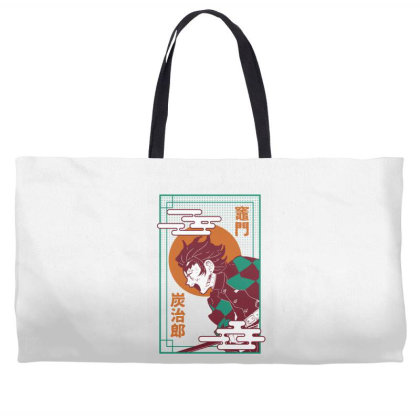 Tanjiro Demon Slayer Weekender Totes Designed By Paísdelasmáquinas