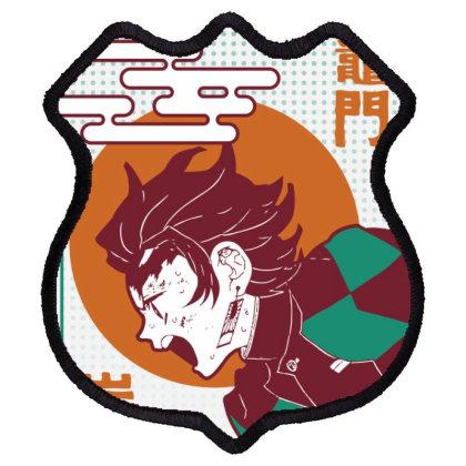 Tanjiro Demon Slayer Shield Patch Designed By Paísdelasmáquinas