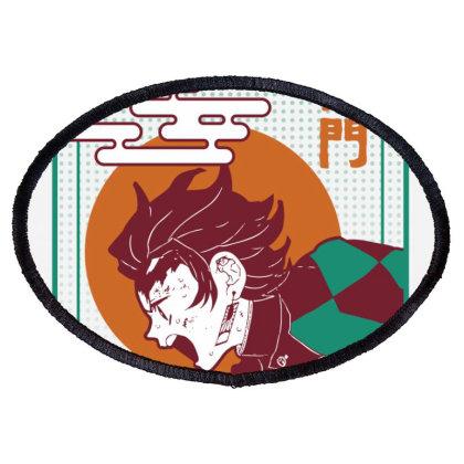 Tanjiro Demon Slayer Oval Patch Designed By Paísdelasmáquinas