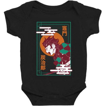 Tanjiro Demon Slayer Baby Bodysuit Designed By Paísdelasmáquinas