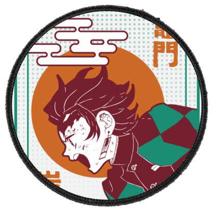Tanjiro Demon Slayer Round Patch Designed By Paísdelasmáquinas