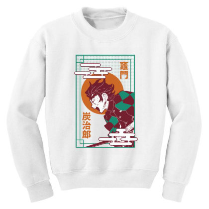 Tanjiro Demon Slayer Youth Sweatshirt Designed By Paísdelasmáquinas