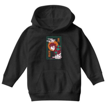 Tanjiro Demon Slayer Youth Hoodie Designed By Paísdelasmáquinas