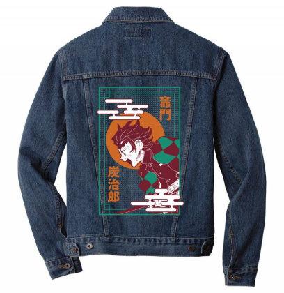 Tanjiro Demon Slayer Men Denim Jacket Designed By Paísdelasmáquinas