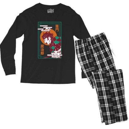 Tanjiro Demon Slayer Men's Long Sleeve Pajama Set Designed By Paísdelasmáquinas