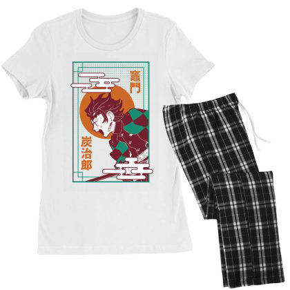 Tanjiro Demon Slayer Women's Pajamas Set Designed By Paísdelasmáquinas