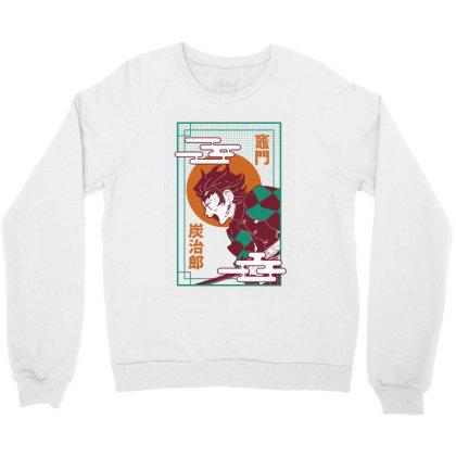 Tanjiro Demon Slayer Crewneck Sweatshirt Designed By Paísdelasmáquinas