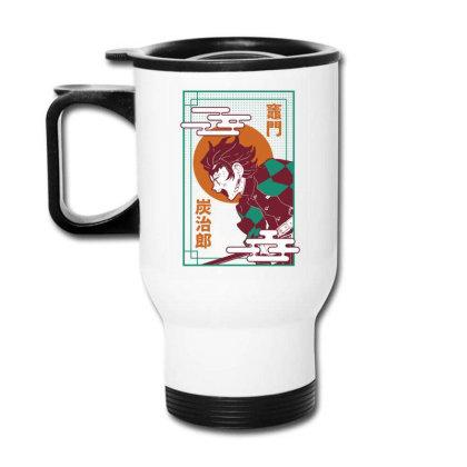 Tanjiro Demon Slayer Travel Mug Designed By Paísdelasmáquinas
