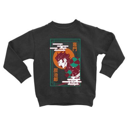 Tanjiro Demon Slayer Toddler Sweatshirt Designed By Paísdelasmáquinas