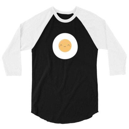 Fried Eggs Kawaii Art 3/4 Sleeve Shirt Designed By H3lm1