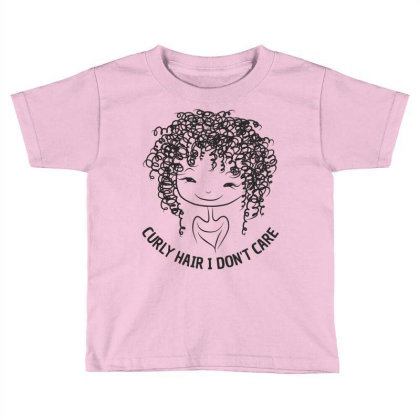 Curly Hair Toddler T-shirt Designed By Designisfun