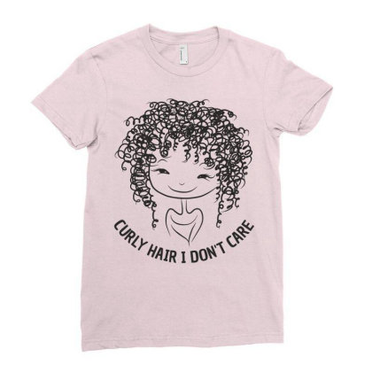 Curly Hair Ladies Fitted T-shirt Designed By Designisfun