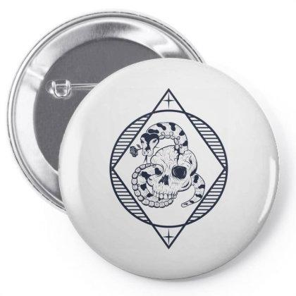 Skull, Snake Pin-back Button Designed By Estore