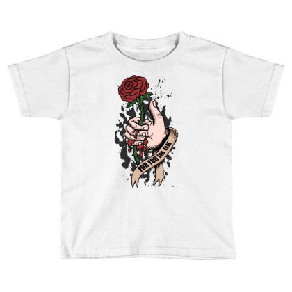 Rose, Hand, Blood Toddler T-shirt Designed By Estore