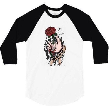 Rose, Hand, Blood 3/4 Sleeve Shirt Designed By Estore