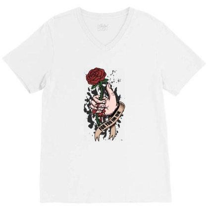 Rose, Hand, Blood V-neck Tee Designed By Estore