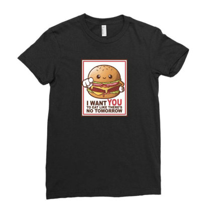 Hamburger Sam Ladies Fitted T-shirt Designed By H3lm1