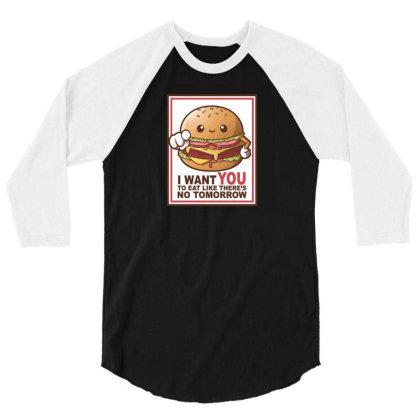 Hamburger Sam 3/4 Sleeve Shirt Designed By H3lm1