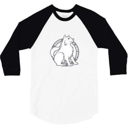 Adopt A Dire Wolf 3/4 Sleeve Shirt Designed By Gracer