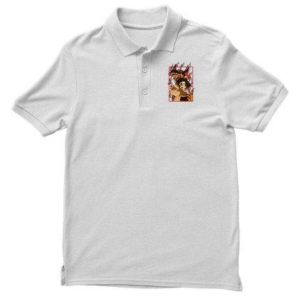 Digimon Agumon Men's Polo Shirt Designed By Paísdelasmáquinas