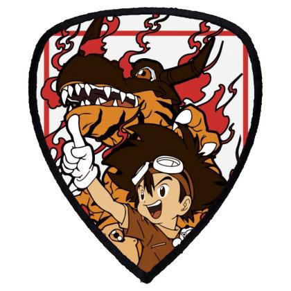 Digimon Agumon Shield S Patch Designed By Paísdelasmáquinas