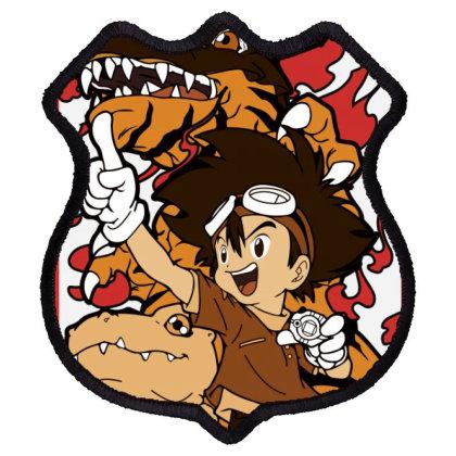 Digimon Agumon Shield Patch Designed By Paísdelasmáquinas
