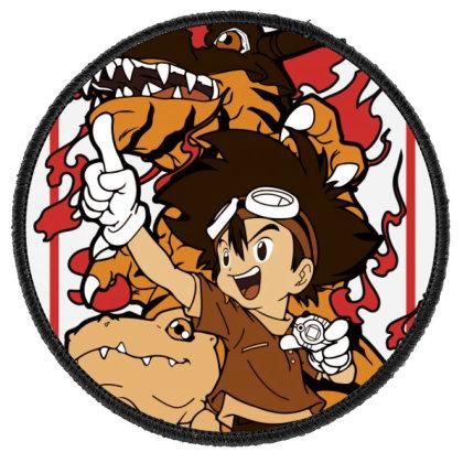 Digimon Agumon Round Patch Designed By Paísdelasmáquinas