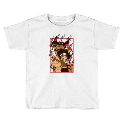 Digimon Agumon Toddler T-shirt Designed By Paísdelasmáquinas