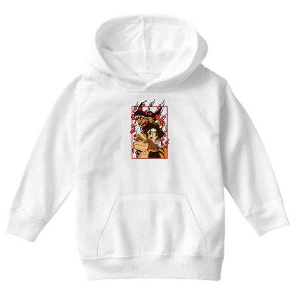 Digimon Agumon Youth Hoodie Designed By Paísdelasmáquinas