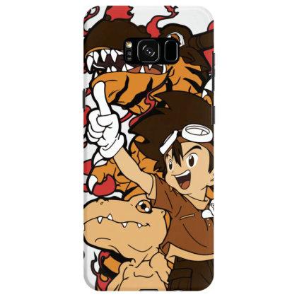 Digimon Agumon Samsung Galaxy S8 Case Designed By Paísdelasmáquinas