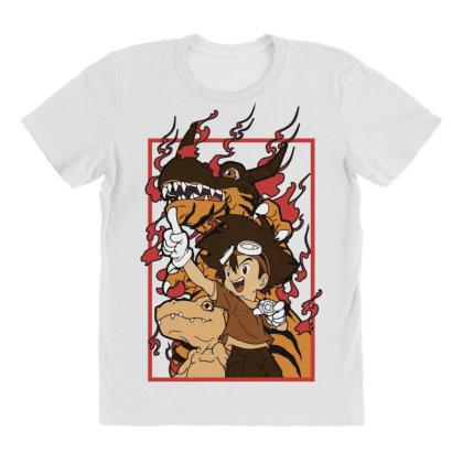 Digimon Agumon All Over Women's T-shirt Designed By Paísdelasmáquinas