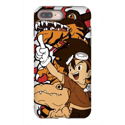 Digimon Agumon Iphone 8 Plus Case Designed By Paísdelasmáquinas