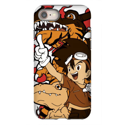 Digimon Agumon Iphone 8 Case Designed By Paísdelasmáquinas
