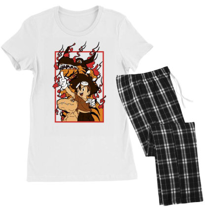 Digimon Agumon Women's Pajamas Set Designed By Paísdelasmáquinas