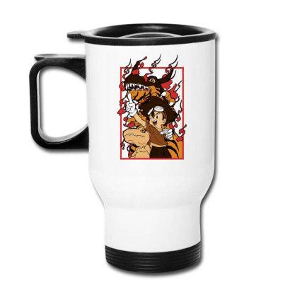 Digimon Agumon Travel Mug Designed By Paísdelasmáquinas