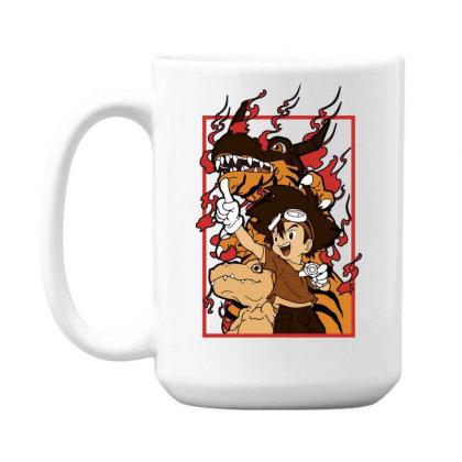 Digimon Agumon 15 Oz Coffe Mug Designed By Paísdelasmáquinas