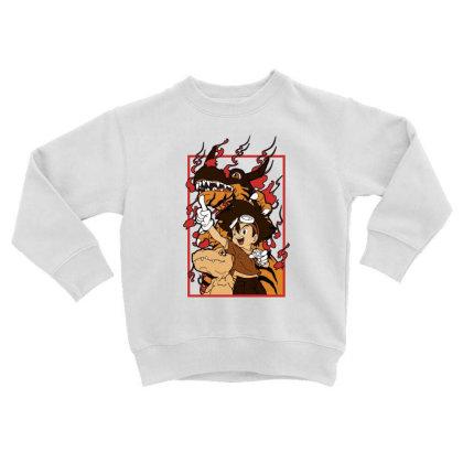 Digimon Agumon Toddler Sweatshirt Designed By Paísdelasmáquinas
