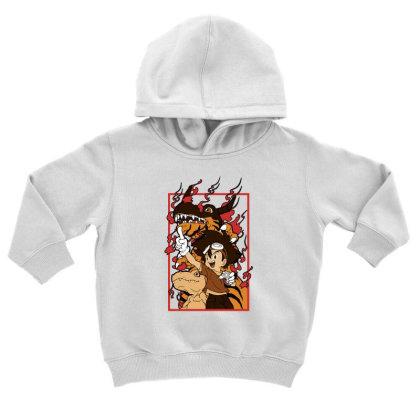Digimon Agumon Toddler Hoodie Designed By Paísdelasmáquinas