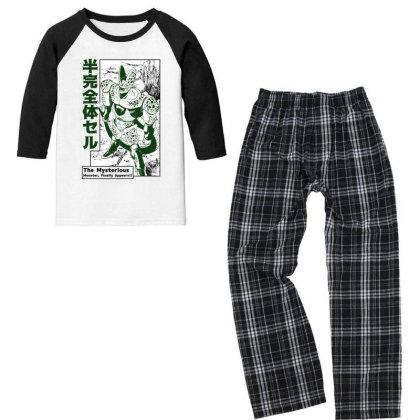 Cell Form2 Youth 3/4 Sleeve Pajama Set Designed By Paísdelasmáquinas