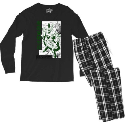 Cell Form2 Men's Long Sleeve Pajama Set Designed By Paísdelasmáquinas