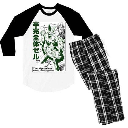 Cell Form2 Men's 3/4 Sleeve Pajama Set Designed By Paísdelasmáquinas