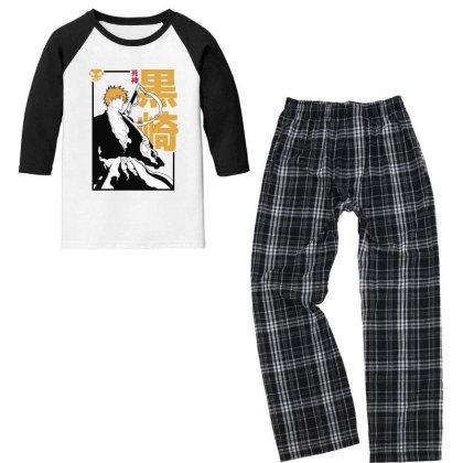 Bleach Ichigo Youth 3/4 Sleeve Pajama Set Designed By Paísdelasmáquinas