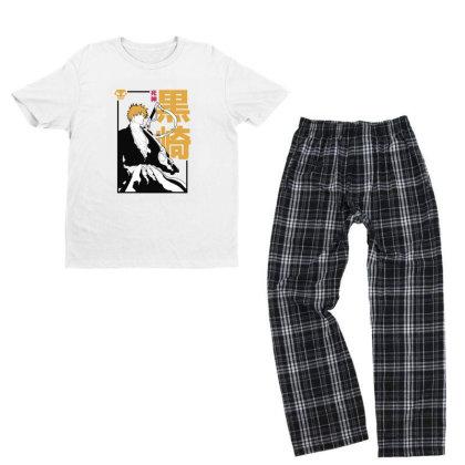 Bleach Ichigo Youth T-shirt Pajama Set Designed By Paísdelasmáquinas