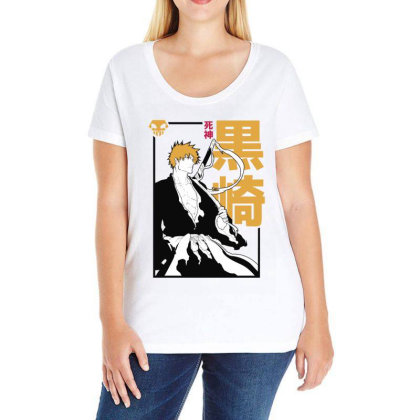 Bleach Ichigo Ladies Curvy T-shirt Designed By Paísdelasmáquinas