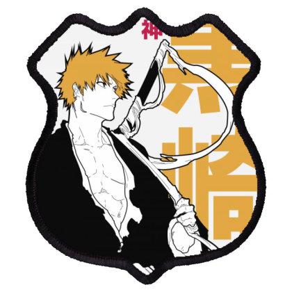 Bleach Ichigo Shield Patch Designed By Paísdelasmáquinas