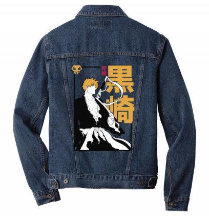 Bleach Ichigo Men Denim Jacket Designed By Paísdelasmáquinas