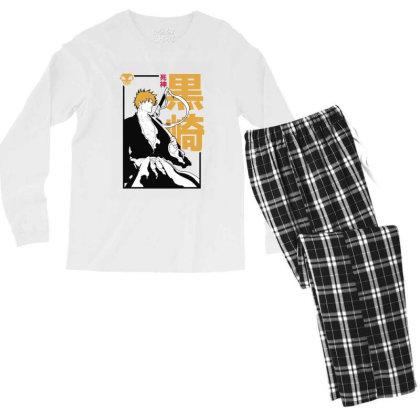 Bleach Ichigo Men's Long Sleeve Pajama Set Designed By Paísdelasmáquinas