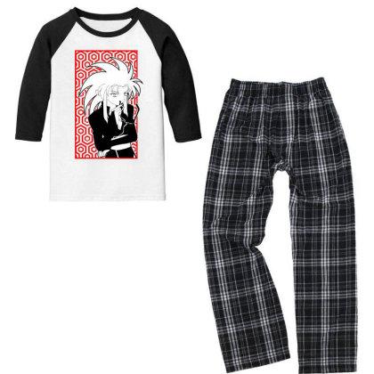 Ryoko Tenchi Youth 3/4 Sleeve Pajama Set Designed By Paísdelasmáquinas