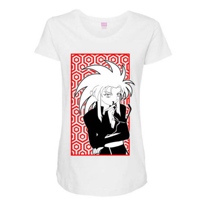Ryoko Tenchi Maternity Scoop Neck T-shirt Designed By Paísdelasmáquinas