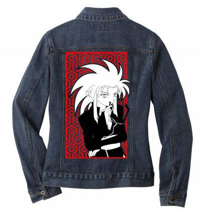 Ryoko Tenchi Ladies Denim Jacket Designed By Paísdelasmáquinas